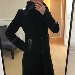 MACKAGE⭐️Wool coat with leather trim❤️SALE TODAY🎉